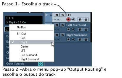 "ouput ""Left,"" ""Right"" com o output ""Right,"" etc. Uma alternativa seria indicar o output ""5.1"" em"