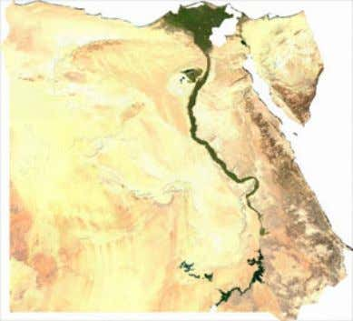 effective Figure 1a. Map of Egypt (Source: World Factbook) Figure 1b. Egypt showing the vast desert