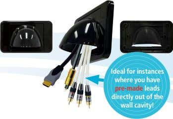 Ideal for instances   where you have   pre-made leads   directly out of the  wall cavity!