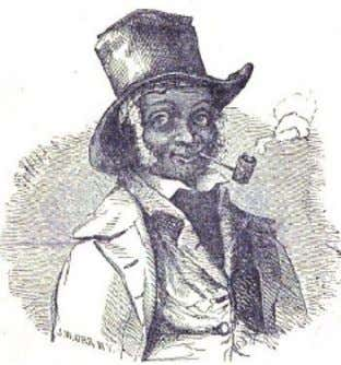 "Engraving of Anderson from the title page of his 1857 Narrative . ""THE HALF WILL"