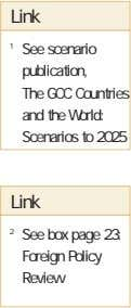 Link 1 See scenario publication, The GCC Countries and the World: Scenarios to 2025 Link