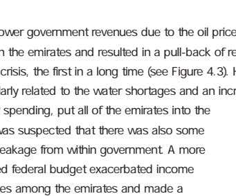 Lastly, lower government revenues due to the oil price and slower growing economy caused friction