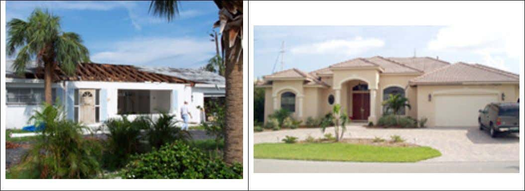 Figure 1. Tale of two houses. The house on the left was a 1970s era