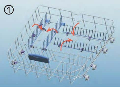 of them can be folded and larger spaces can be obtained. You can use folding racks