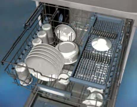the upper cutlery basket in order to obtain more space. . Warning : Knives and other