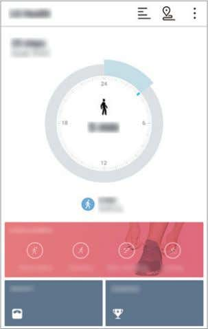Tap 2 Do the following: LG LG Health . LG LG Health . • : Display