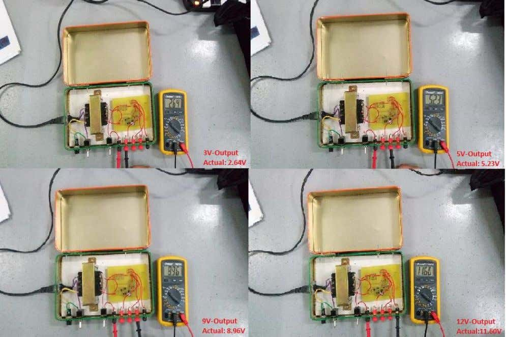 Figure 4: Soldered Components Figure 5: Initial Testing of Power Supply Prototype with Output Page 9