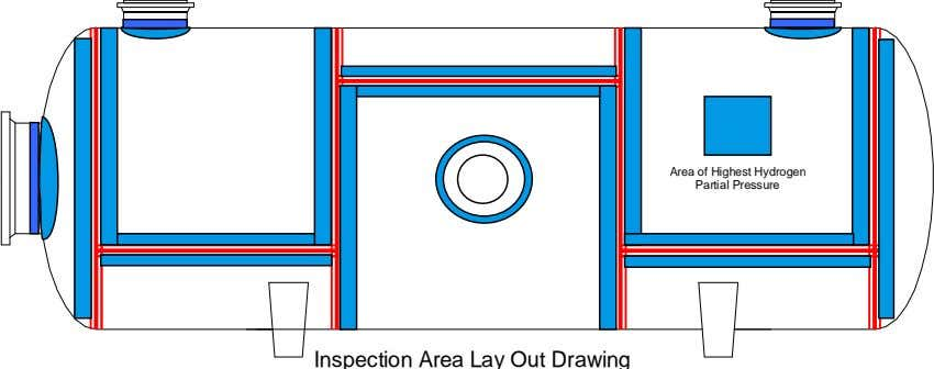 Area of Highest Hydrogen Partial Pressure Inspection Area Lay Out Drawing