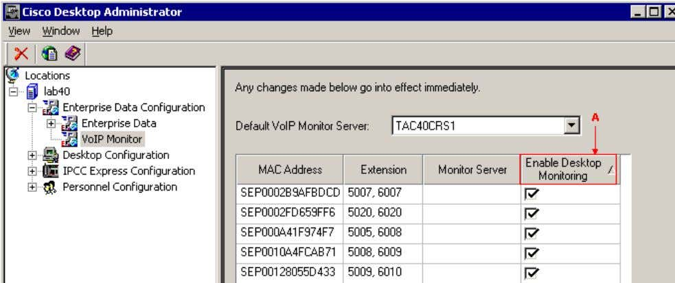Desktop Administrator. Figure 1: Cisco Desktop Administrator ∑ Confirm that the Agent PC Network Interface Cards