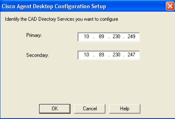 4. Click OK . The Cisco Agent Desktop Configuration Setup screen appears (see Figure 4).