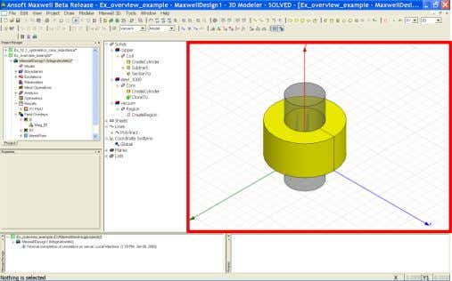 to clipboard 1. Select the menu item Edit > Copy Image ANSYS Maxwell Field Simulator v15