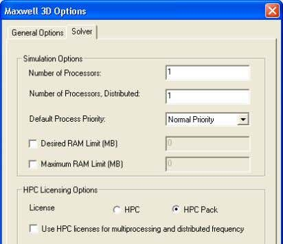 occur with hard drive (leave it unchecked for auto-detect) ANSYS Maxwell Field Simulator v15 – Training