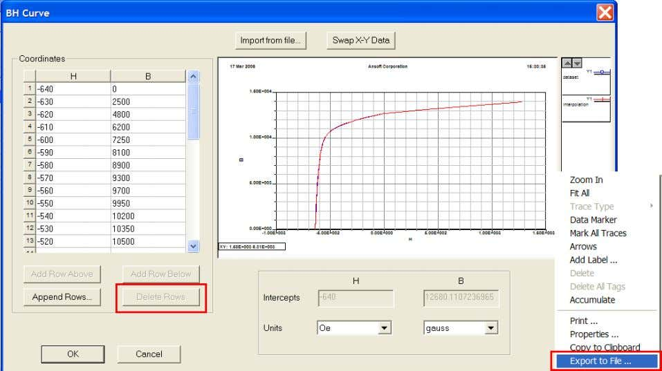 right-mouse- click on curve and select Export to File… ANSYS Maxwell Field Simulator v15 – Training