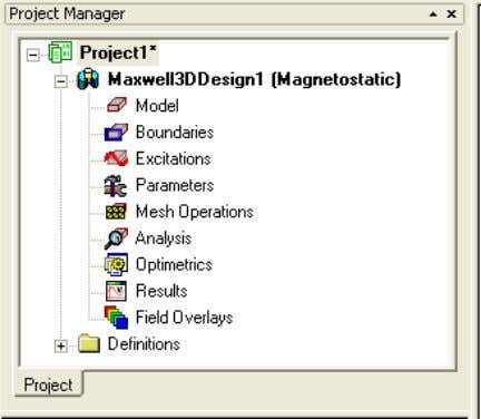 select the menu item Project > Insert Maxwell Design ANSYS Maxwell Field Simulator v15 – Training