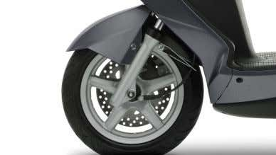 and a rear shock absorber deliver sure-footed roadholding. Comfortable dual seat Getting around town –and finding