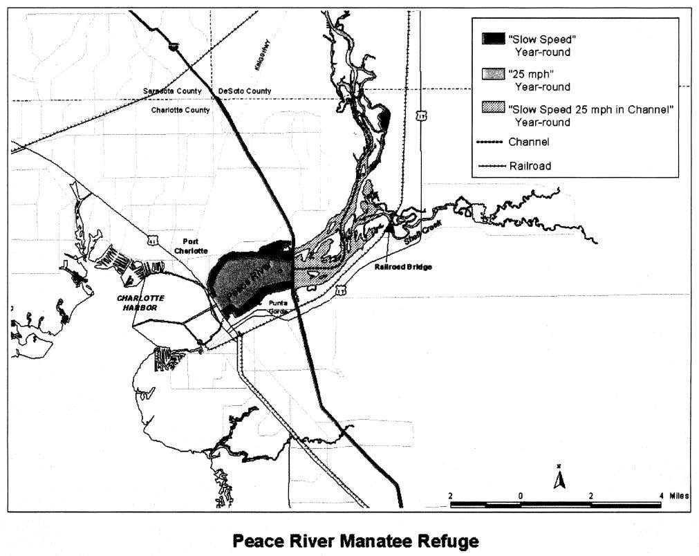 Manatee Refuge follows (see Peace River Manatee Refuge): (9) The Shell Island Manatee Refuge. (i) The