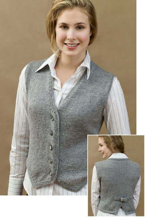 www.redheart.com Knit Vested & Stylish WR1602 Directions are for size Small. Changes for sizes Medium, Large