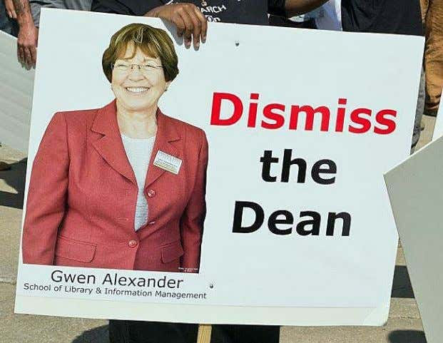 directly to this turmoil, so she earned her own photo-sign . Dismiss the Dean The dean