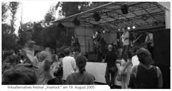 "linksalternatives Festival ""Inselrock"" am 19. August 2005"