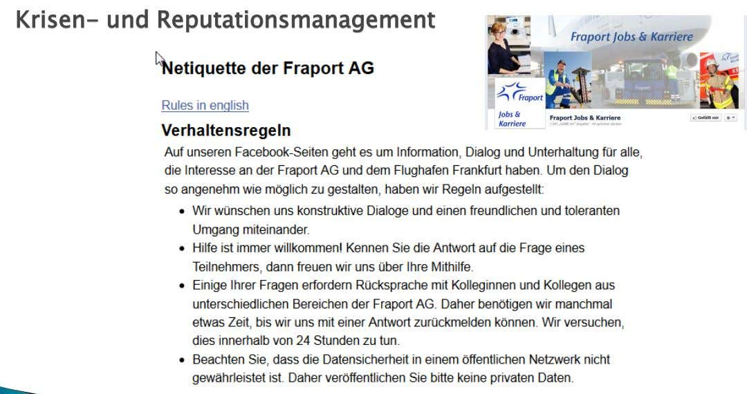 Krisen- und Reputationsmanagement