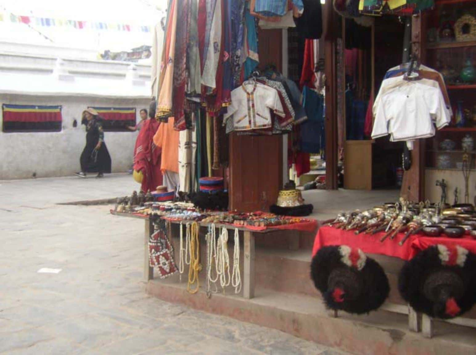 A typical Tibetan shop on the side of the entranceway.