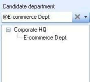 RIMS 4.1-30 On the Candidate or Selected department list, it shows only the department no matter