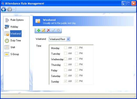 RIMS 1) 4.2-21 Click on the left column of Attendance Rule Management , and turn to