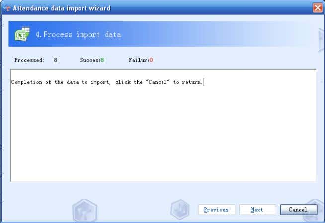 Next to import data if there is nothing wrong with the data. 4.2-50 Fifth: Click Cancel