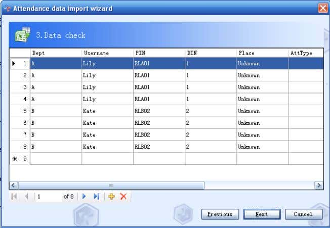 RIMS 4.2-49 Fourth: Click Next to import data if there is nothing wrong with the data.