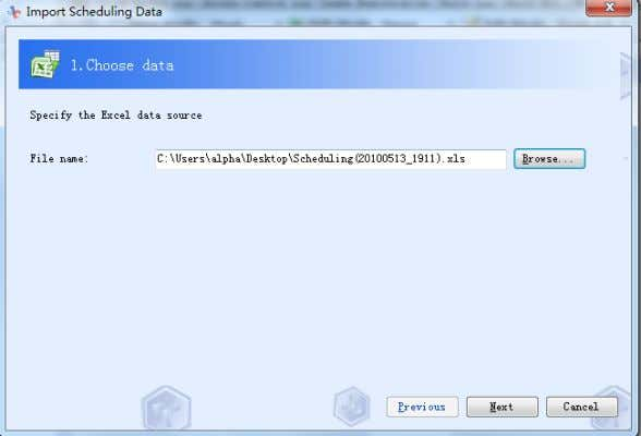 personnel ones. First: select the designed Microsoft Excel 4.2-65 Second: [Data Check], check the imported data.