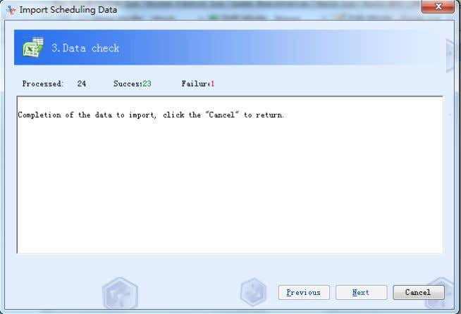 "to import data if there""s not hing wrong with the data. 4.2-67 Fifth: click Cancel and"