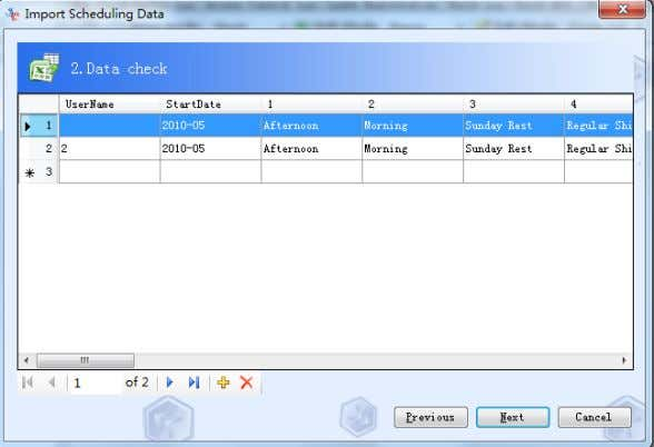 "RIMS 4.2-66 Fourth: click Next to import data if there""s not hing wrong with the data."