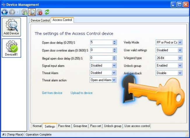 RIMS 4.3-15 1. Click Get to obtain current property settings of the access control. 2. Set