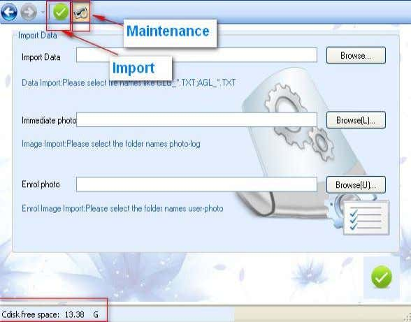 to popup the dialogue box Download data from U-disk/SD card, 4.3-25 It allows importing data, immediate