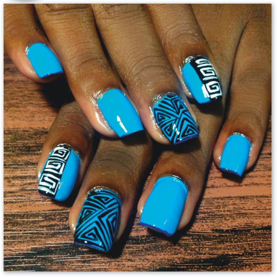 tribal! Kerlisha Munroe, Kerly's Artistic Nails, Trinidad and Tobago [Click here for full profile.] 20
