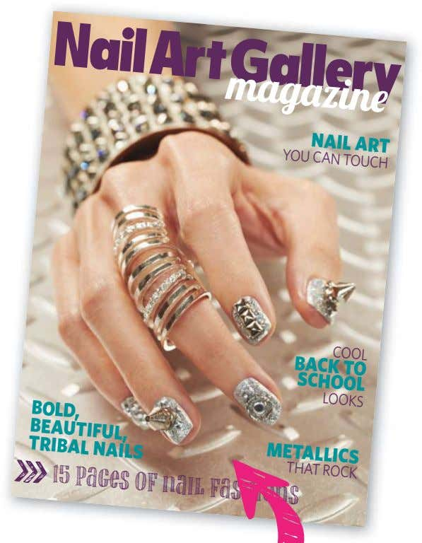 Nail art You Can TouCh Cool Back to School looks Bold, Beautiful, MetallicS triBal NailS