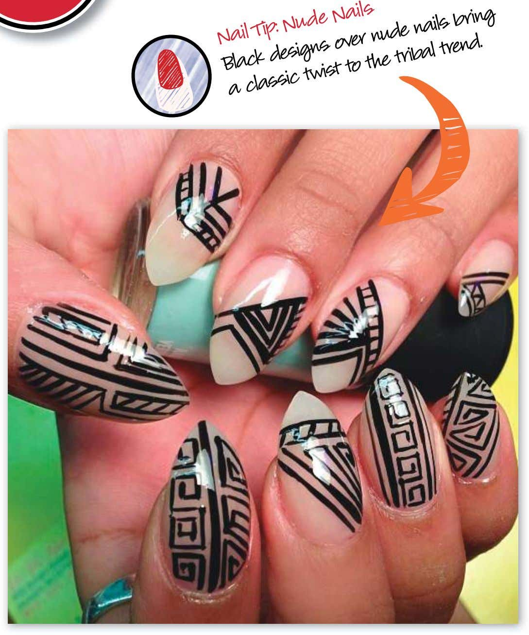 Nail Nude Nails Black Tip: designs to the nude bring a classic nails trend. twist