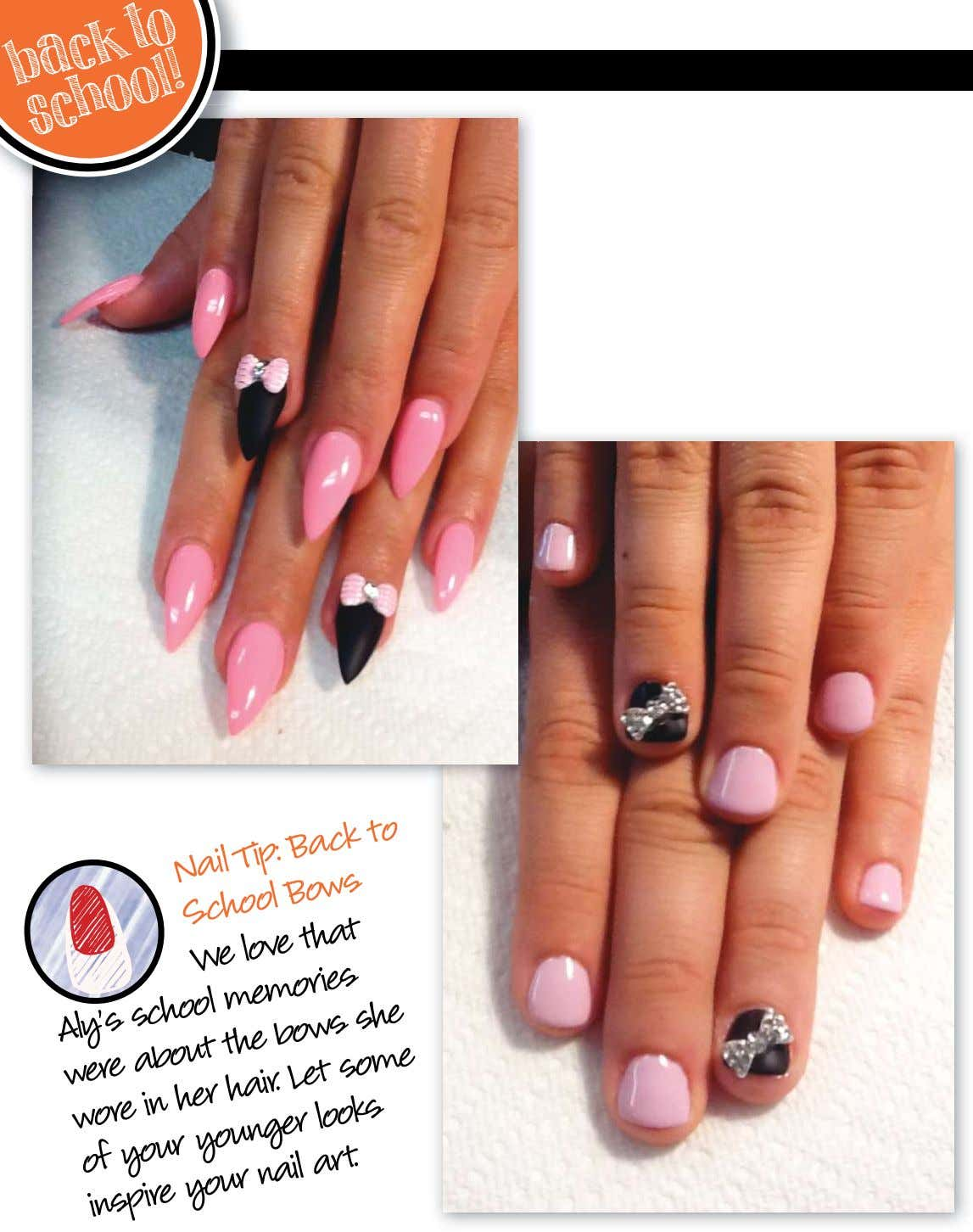 back to school! Nail Back to Tip: Bows School We that Aly's in school your