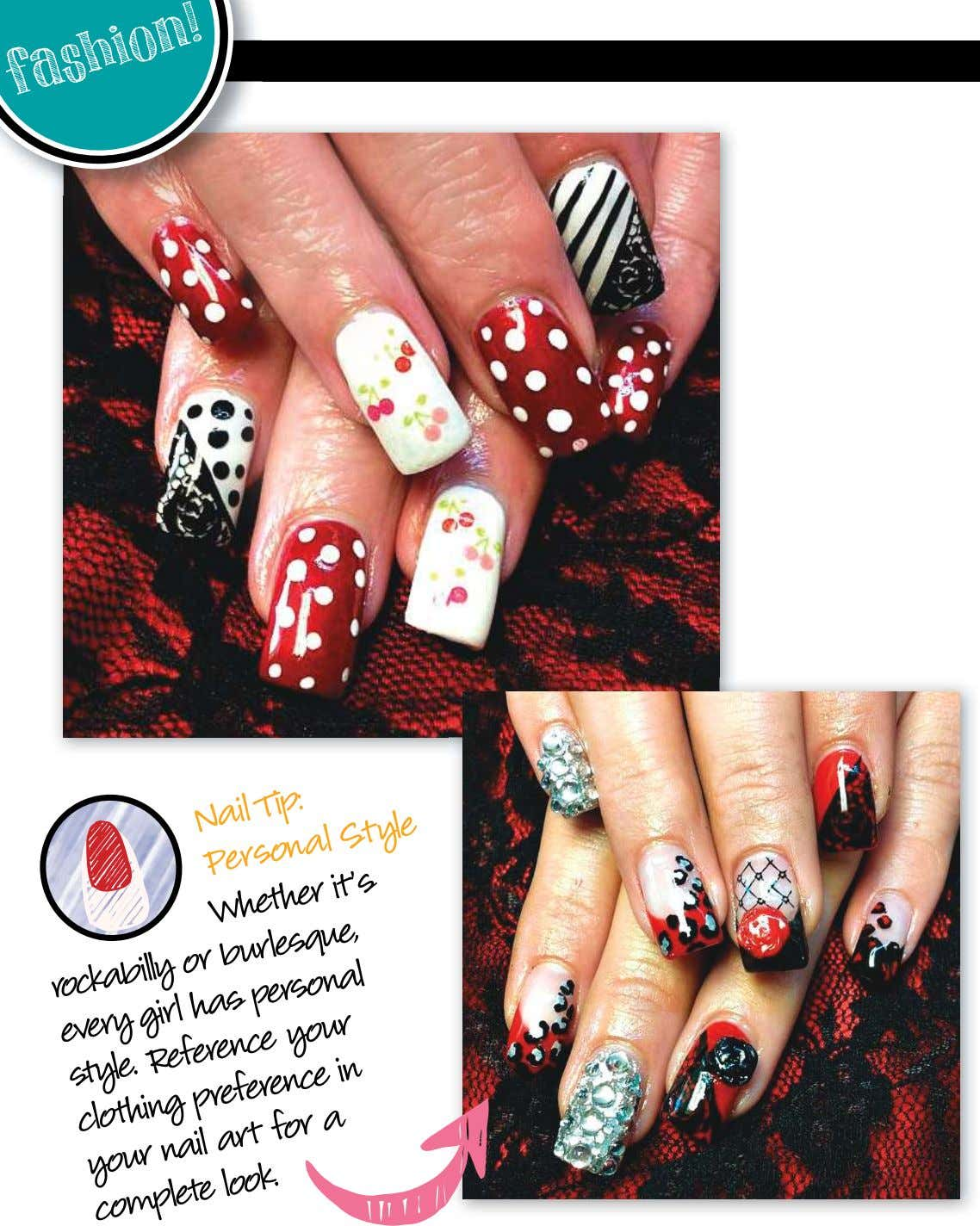 fashion ! Nail Tip: Personal Style a in it's rockabilly has burlesque, Whether or every