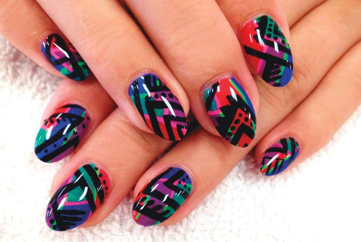make it a trendy must-try for nail enthusiasts everywhere. Colorful Tribal Lauren Wireman of Wildflowers Nail