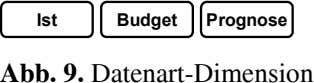 Ist Budget Prognose Abb. 9. Datenart-Dimension