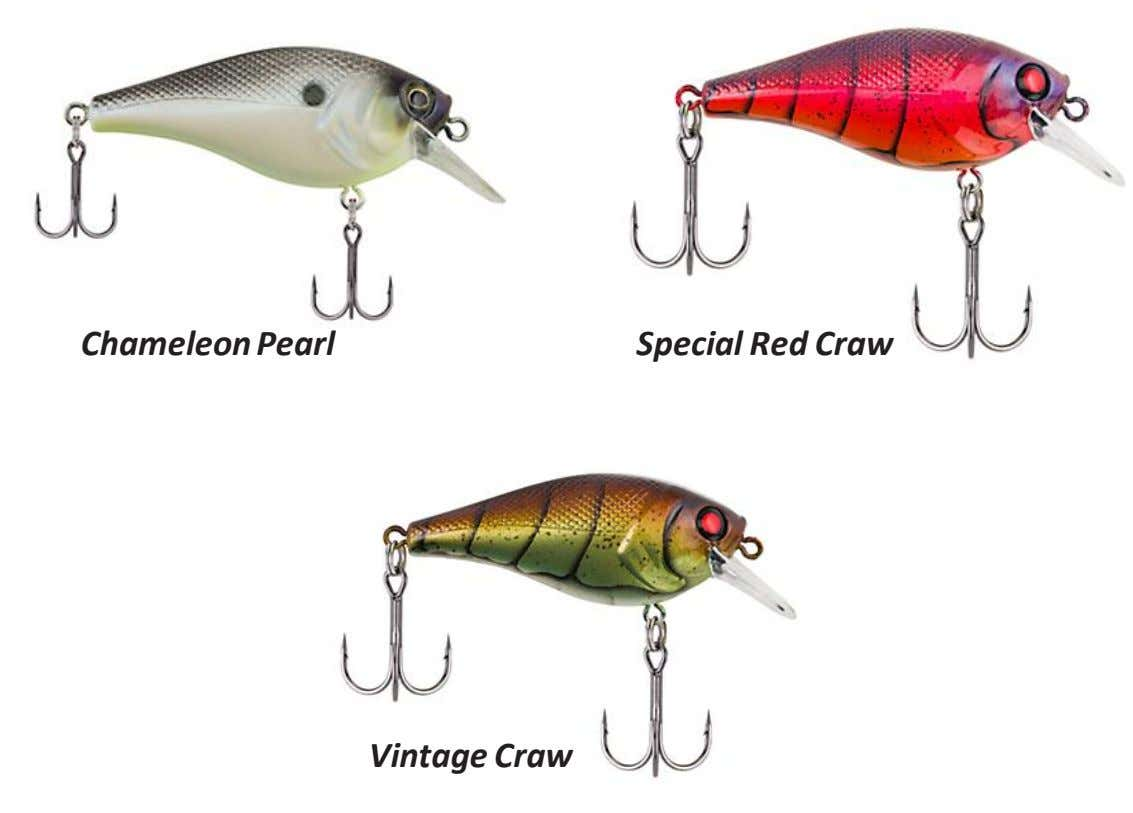 Chameleon Pearl Special Red Craw Vintage Craw Yellow