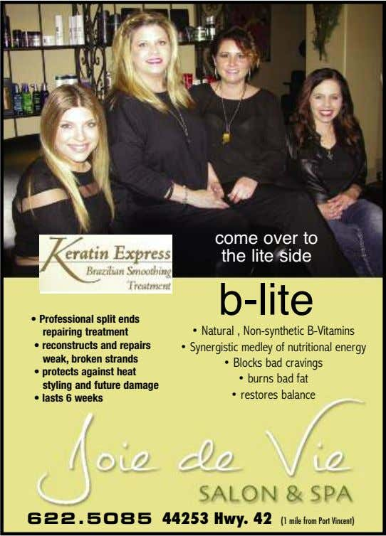 come over to the lite side b-lite • Professional split ends repairing treatment • Natural