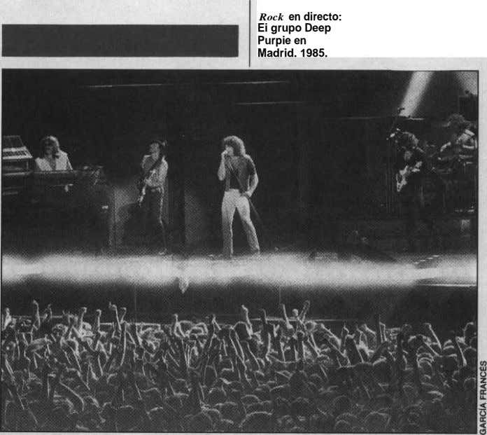 Rock en directo: Ei grupo Deep Purpie en Madrid. 1985.