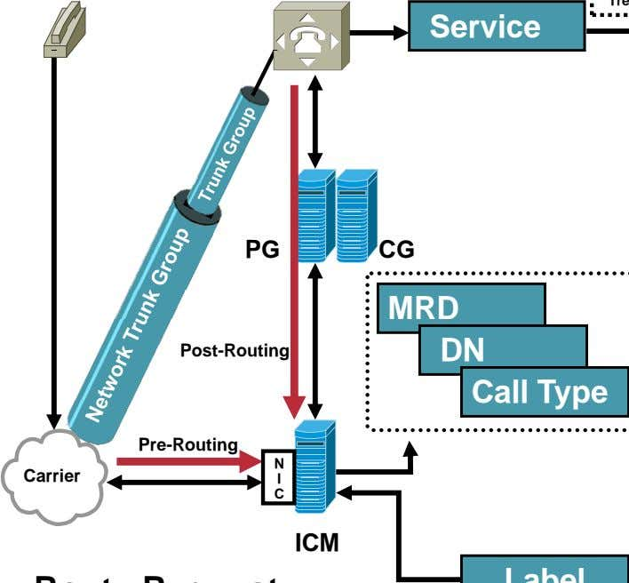 Service PG CG Post-Routing Pre-Routing N Carrier I C ICM