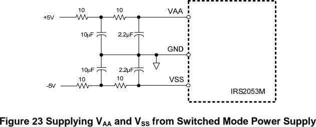 Figure 23 Supplying V AA and V SS from Switched Mode Power Supply