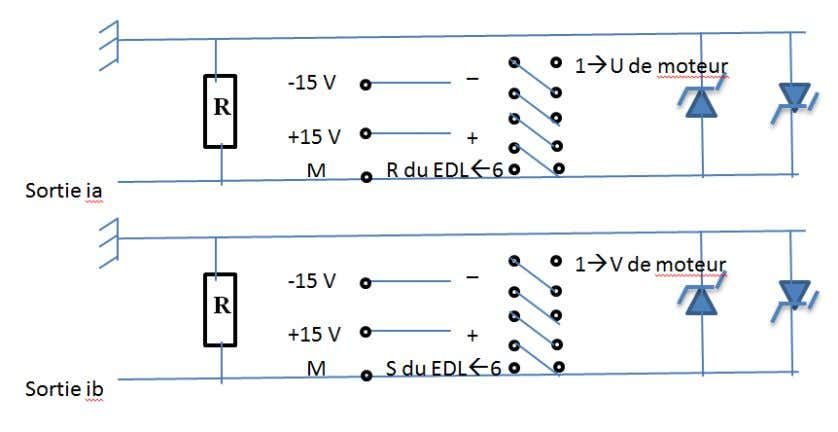 Figure 3.8 schéma électronique de circuit de captage de courant On remarque que le circuit