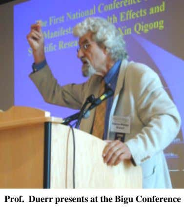Prof. Duerr presents at the Bigu Conference