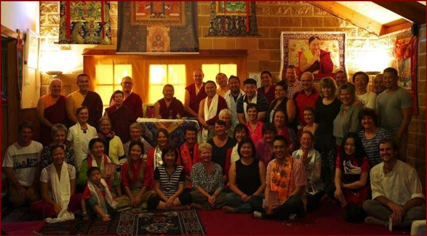 we are to have such a generous and compassionate Vajrayana master visiting Australia. Continued on pages