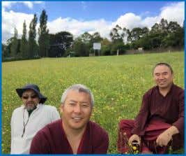 His Eminence, Khenpo la and His Eminence Zimwock Rinpoche enjoying a day out at Portsea